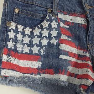 **Final $10** Altar'd State Patriotic Jean Shorts